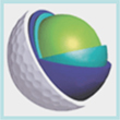 synthetic rubber used interior materials for golf ball